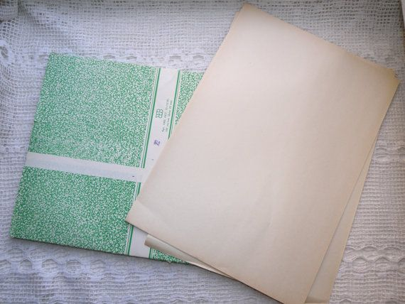 Vintage writing paper A4 pack of 100 sheets. by VintageUSSRshop
