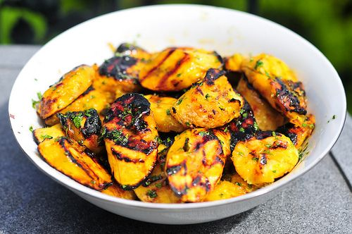 Grilled Plantains with Brown Sugar Glaze - as if grilled plantains weren't enough on their own. Mmmm!