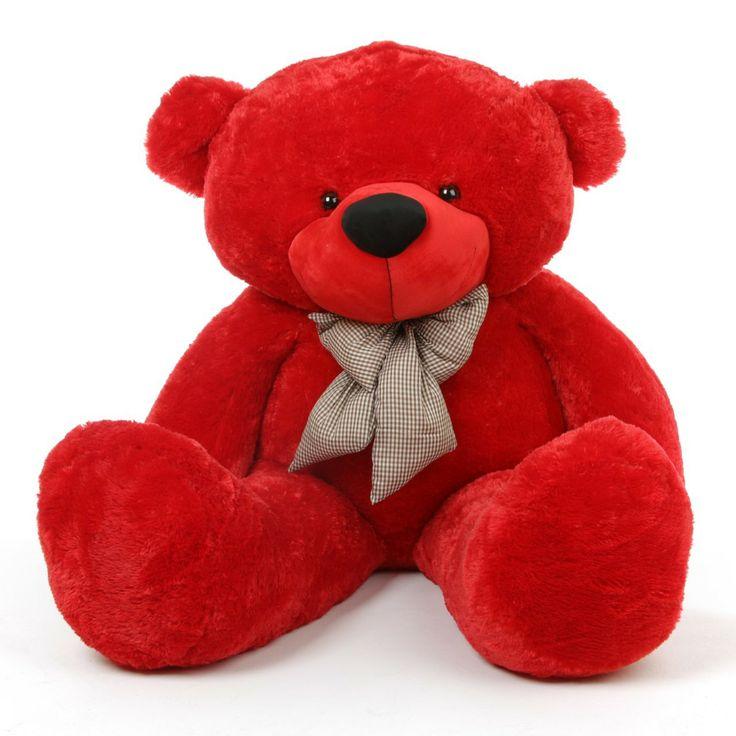 Bitsy Cuddles Soft and Huggable Jumbo Red Teddy Bear 65in - Giant Teddy Bear! $199.99 http://www.giantteddy.com