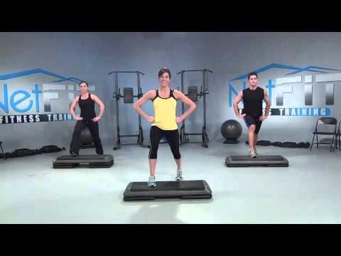 Free Step Bench Aerobics Step-by-Step Moves Instructional Across-the-Top.flv - YouTube
