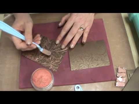 ▶ #82 Metallic PanPasels, 3D Embossing Folders & Metallic Papers by Scrapbooking Made Simple - YouTube