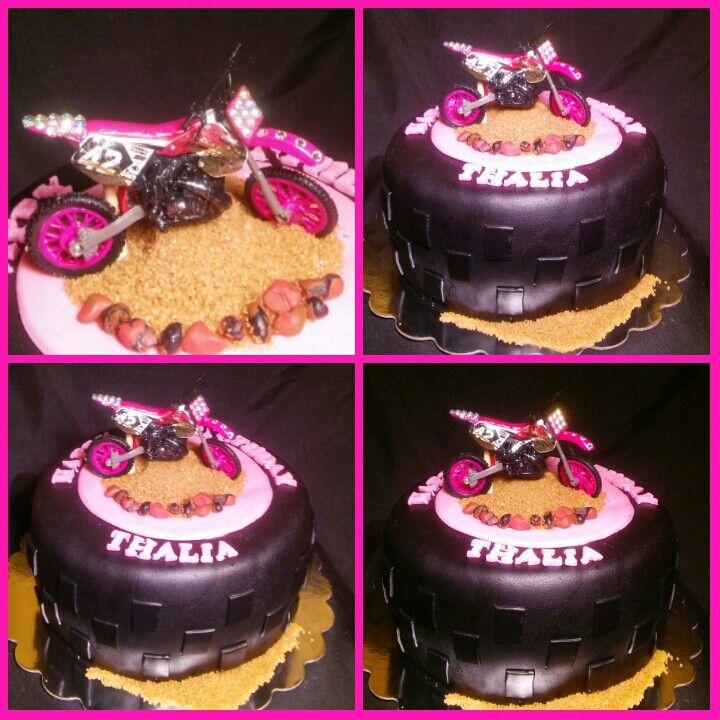 Dirtbike Girl Pink Tire Cake More Of My Custom Cake