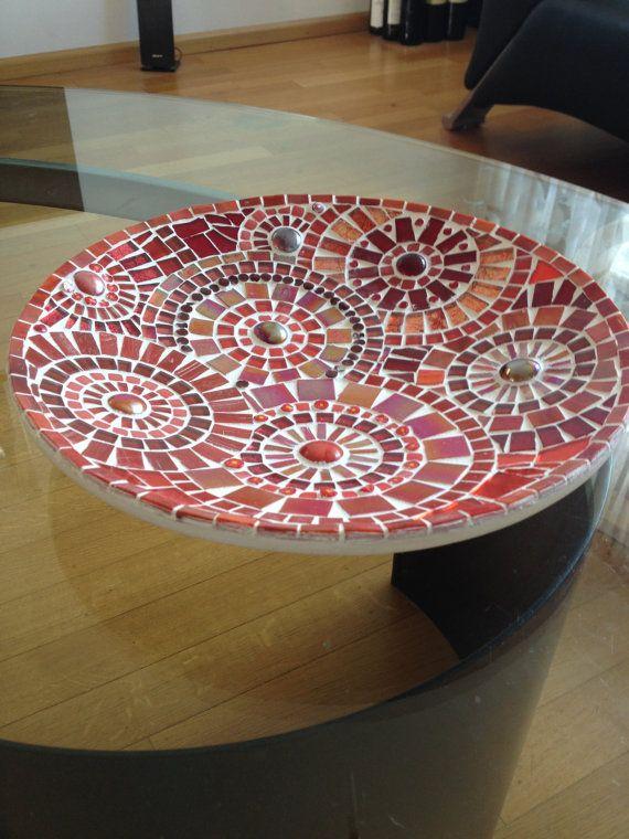mozaiek schaal glasmozaiek schaal bloem door CapolavoriDiMosaico