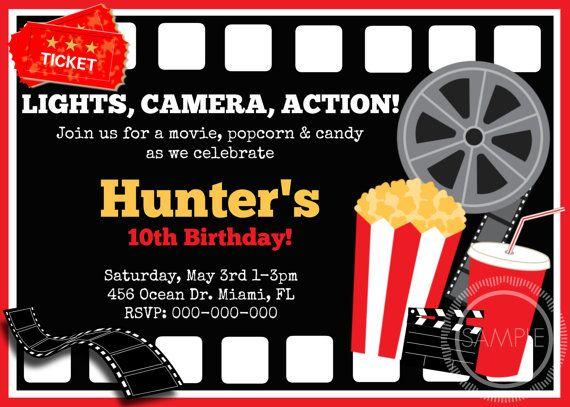 Movie Ticket Birthday / Party Invitation by MyPrettyPartyShoppe, $7.99