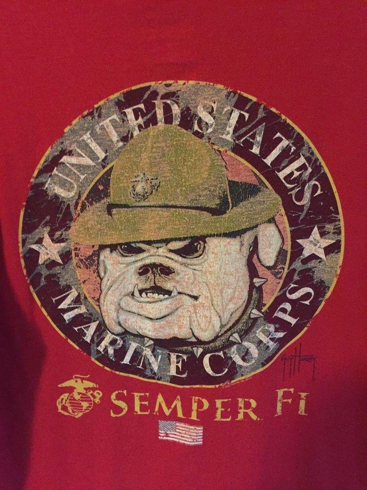 Guy Harvey Tribute to USMC United States Marine Corps T Shirt Size Large    eBay