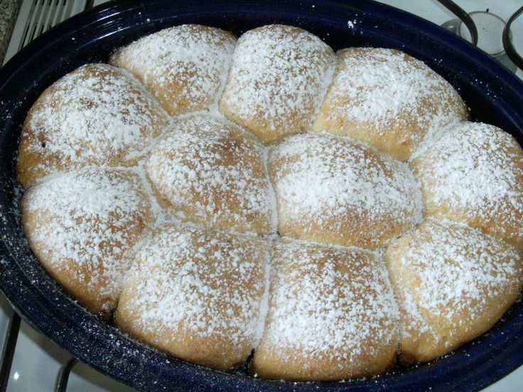 Old Fashioned Bavarian Apple Dumplings_Enjoy this old fashioned recipe for apple dumplings. The German Bavarian dish is served with vanilla sauce or a mix of cinnamon and sugar. Made out of a yeast dough and apples, just right for an Oktoberfest or just to wake up the German memories about real good food. Happy Baking!