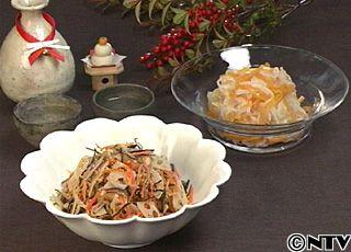 七種の素材の味が一体となった七福なますと、柿の上品な甘みをプラスした紅白なます「なます2種 七福なます 大根と柿のなます」のレシピを紹介!