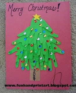 lots of christmas kid crafts...would be cute to hang on classroom door