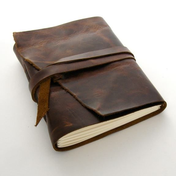 Want. Handmade Leather Journal.
