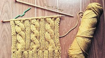 How to knit a cable scarf - YouTube