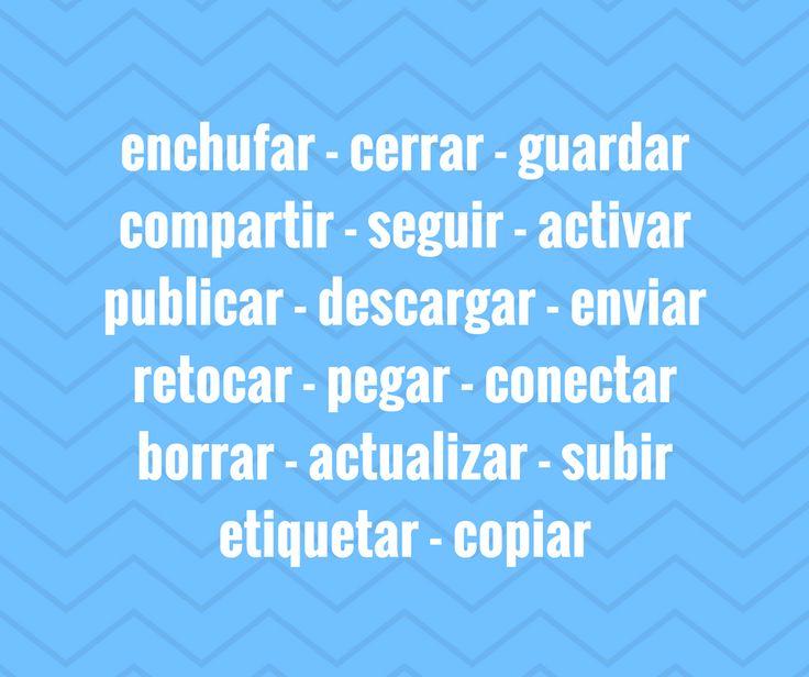 Completa con verbos relacionados con internet. 15 frases que debes completar con la forma correcta de estos verbos relacionados con la tecnología.