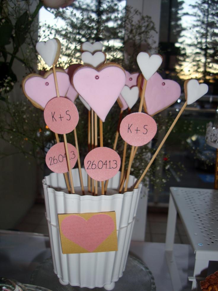 Heart Cookies - Wedding Dessert Bar www.facebook.com/MakeAStatementEvents