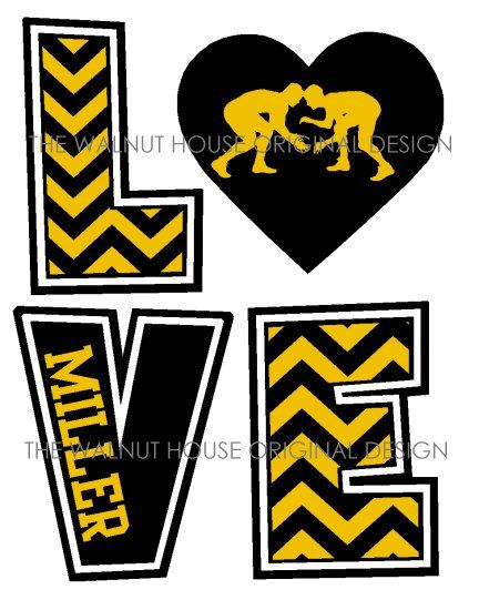 ORIGINAL DESIGN Wrestling Chevron Love by WalnutStreetHouse2