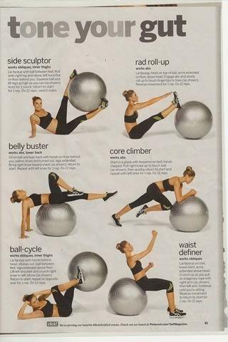 Yoga ball workouts