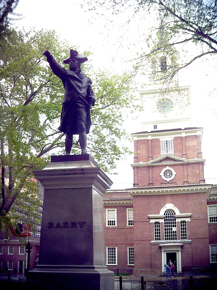 Independence Hall General Berry Statue City of Brotherly
