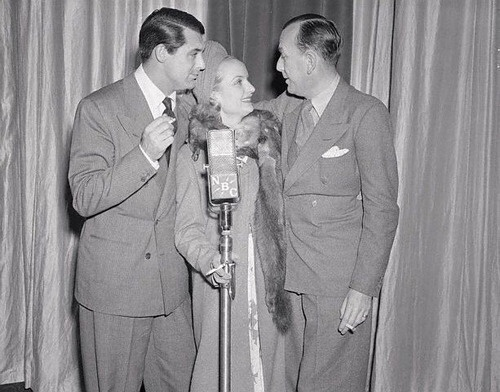 Cary Grant with Carole Lombard and Noel Coward.