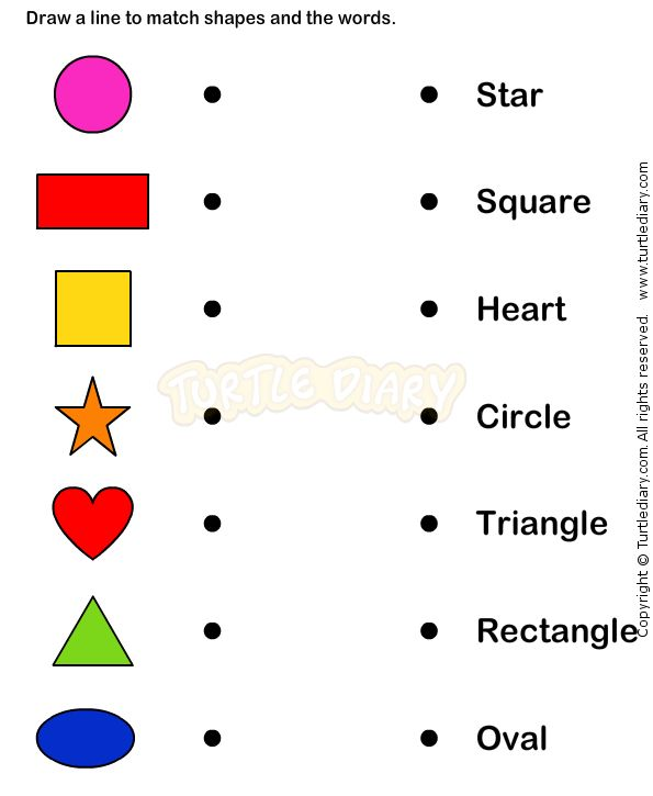 Learn Shape worksheets kindergarten math – Teaching Worksheets for Kindergarten