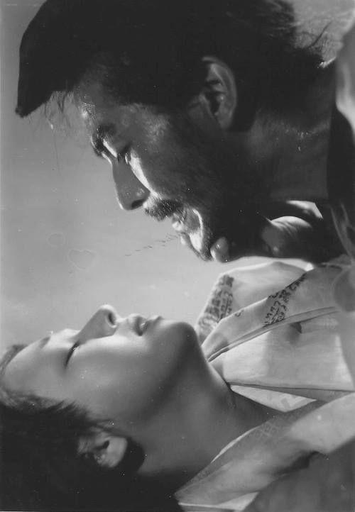 Mifune and Kyo Machiko