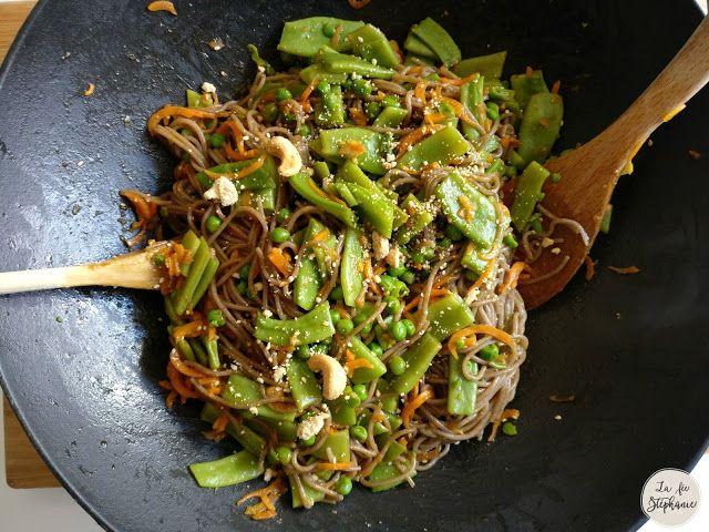 Wok de légumes et spaghetti de sarrasin, recette végétale et sans gluten - La Fée Stéphanie