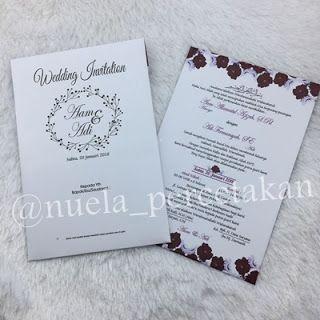 Cetak Kartu Undangan Pernikahan di Tasikmalaya 081322349644: Undangan Hardcover Aam & Adi // 081322349644 Nuela...