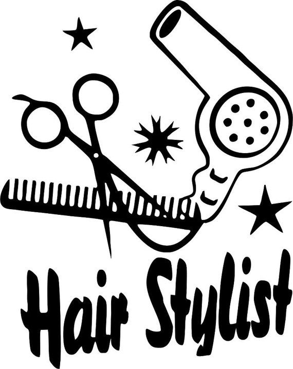 107 best images about hairrelated on pinterest chris - Stickers salon design ...