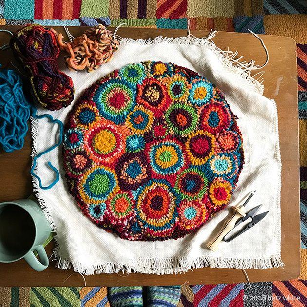 Rag Rug Stool: 4210 Best Rug Hooking Images On Pinterest
