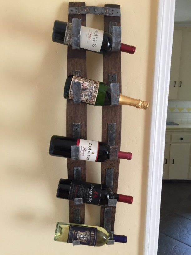 rustic wall mount wine bottle rack