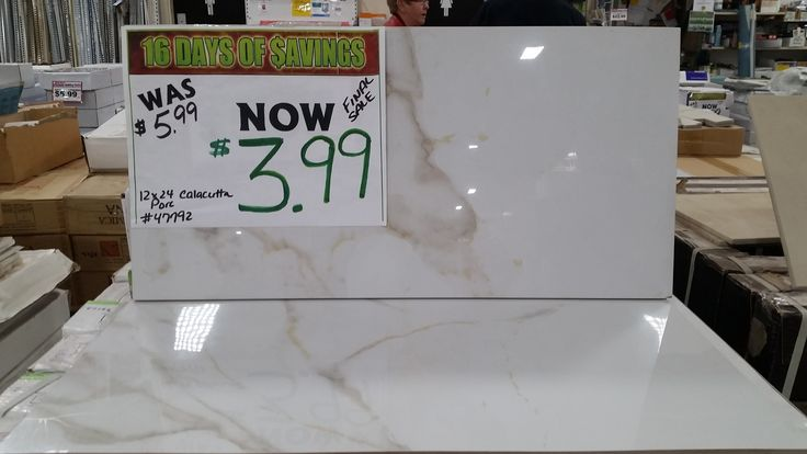16 DAYS OF SAVINGS: Reduced prices on 12x24 porcelain tile! …ONLY 2 days left! 46 Wright Ave, Dartmouth 902-468-2319 www.happyharrysdartmouth.com #tile #porcelain #sale #HappyHarrysDartmouth