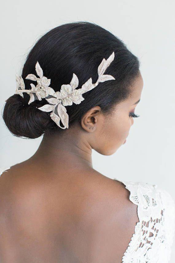 Lace Wedding Headpiece Champagne Bridal Headpiece Wedding