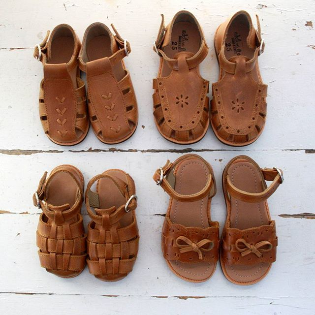 Handmade leather sandals from Adelisa & Co. Available in baby and toddler sizes.