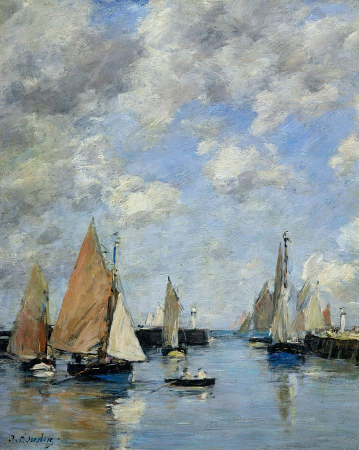 The Jetty At High Tide by Eugene Boudin