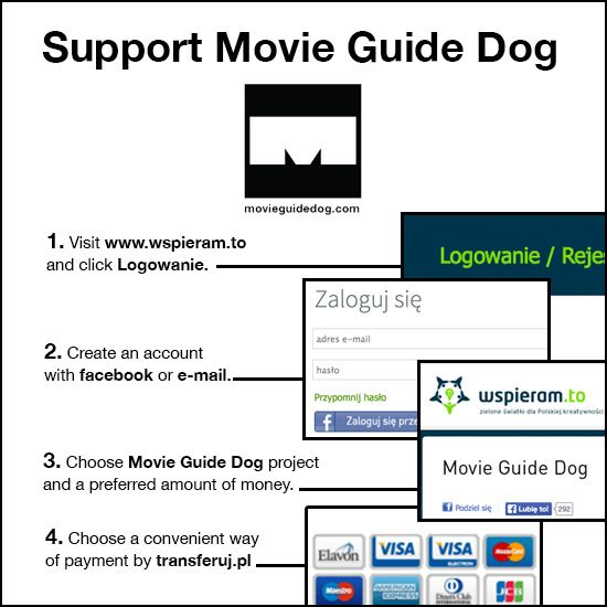 Movie Guide Dog crowd-funding site.