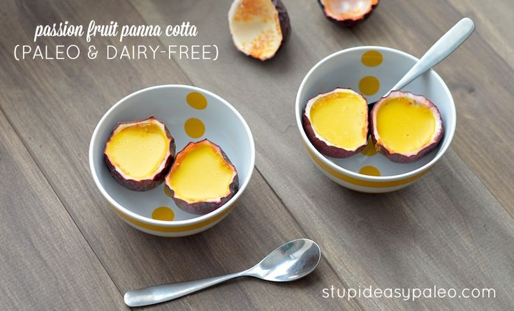 Passion Fruit Panna Cotta (Paleo & Dairy-Free) | stupideasypaleo.com
