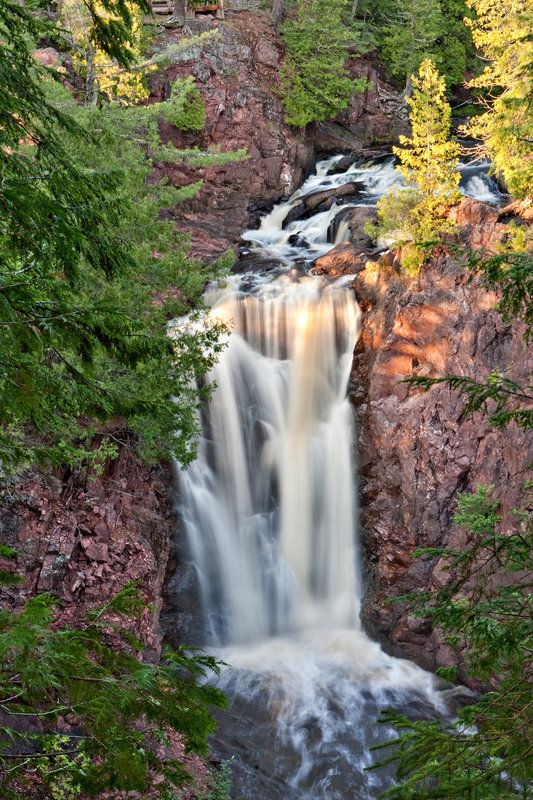 COPPER FALLS STATE PARK | Brownstone Falls is one of two waterfalls in Copper Falls State Park in Ashland County. - Image credit: Jerry Luterman From JSO  Photo Gallery:  Wisconsin state parks