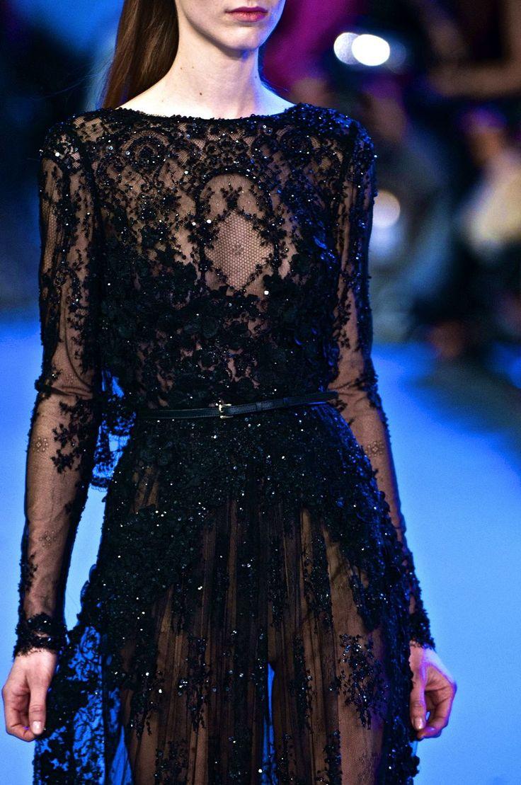 chiffonandribbons:  Elie Saab Couture S/S 2014  love black  @luxurydesigners  @luxurydotcom