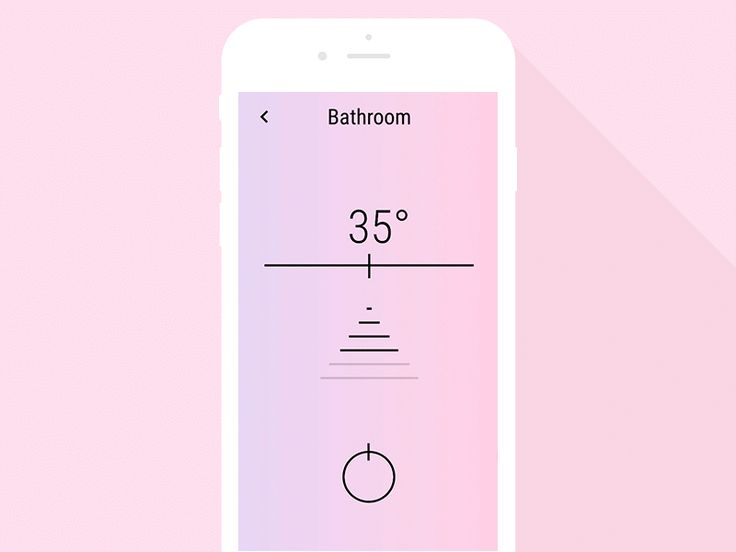 Simple water control app UI animation by Maria Kopotilova