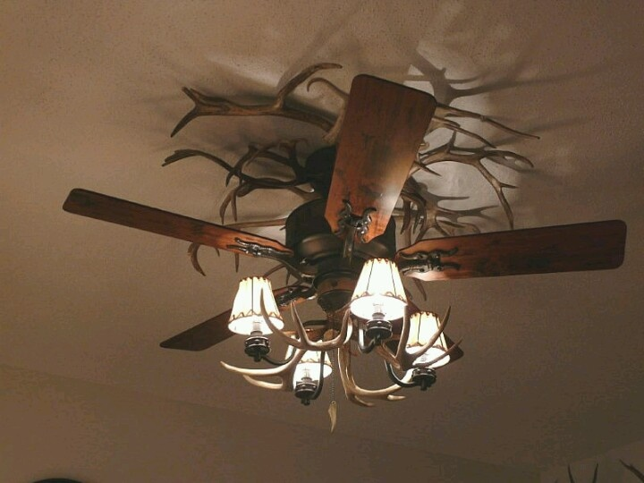 Another Antler Ceiling Fan Cabin Decor Pinterest Antlers And Lighting