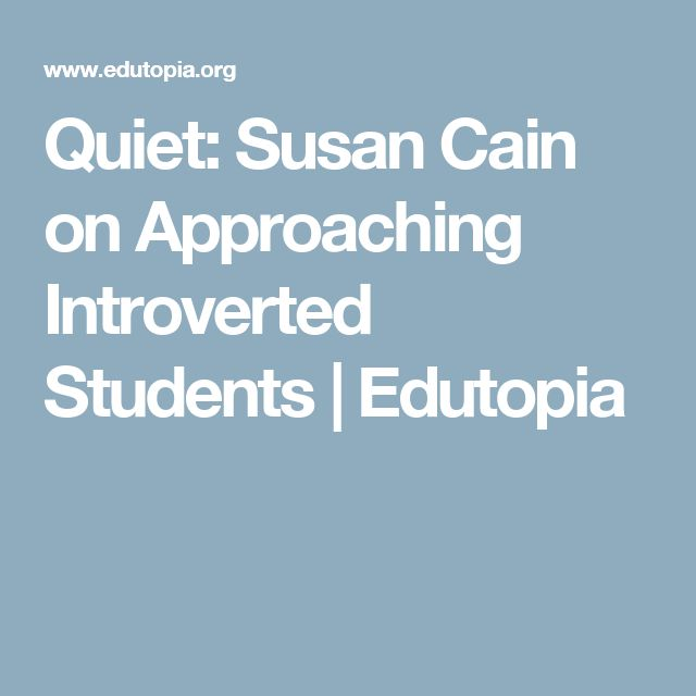 quiet susan cain Our world prizes extroverts—but susan cain makes a case for the quiet and contemplative she reaches millions of people through her books, podcasts and her mission-based organization, quiet revolution, which empowers introverts for the benefit of every.