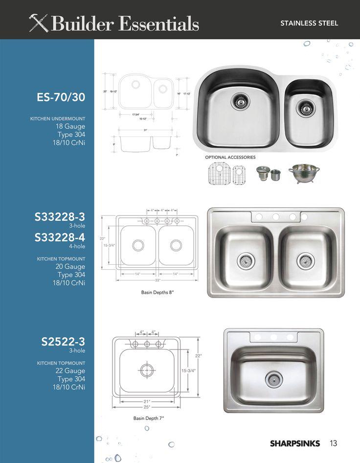 ESI SharpSinks Catalog Pg 13 Stainless Steel Sinks