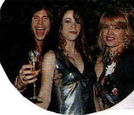 Steven Tyler's Ex-Wife   Steven Tyler and ex-wife Teresa Barrick with Mariah Carey   Aerosmith