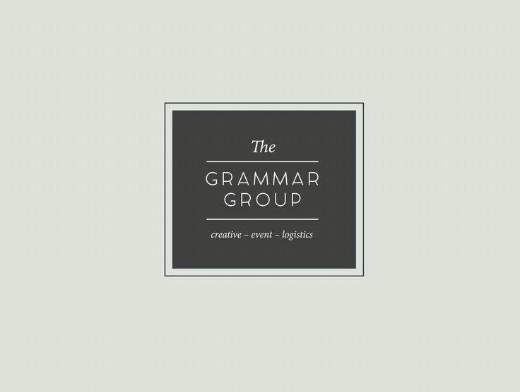 The Grammar Group. Logo design. Grey. www.missrubydesigns.co.za