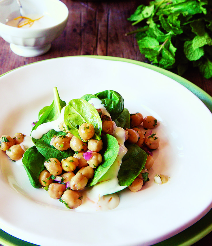 ... Krieger's Chickpea and Spinach Salad with Cumin Dressing--- I