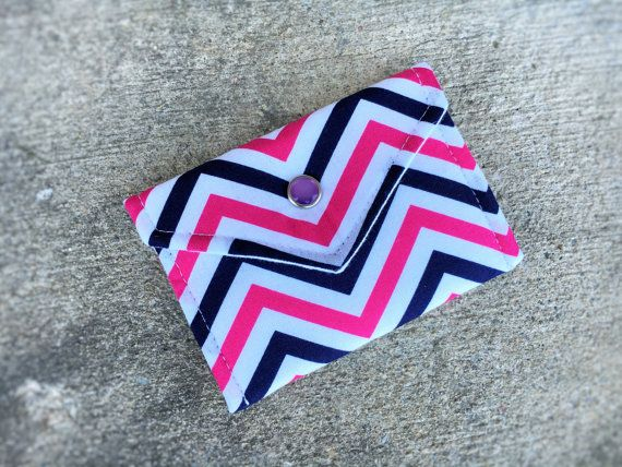 34 best business card cases business card holder gift card holder business card holder gift card holder in pink and blue chevron color 100 cotton reheart Images