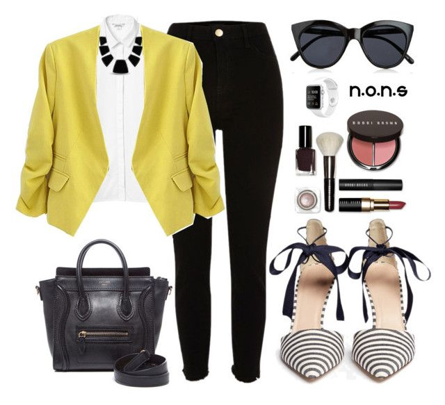 #3 #SIMPSTYLE #NONS by noviaandriani on Polyvore featuring polyvore, fashion, style, Monki, River Island, J.Crew, CÉLINE, Karen Kane, Le Specs, Bobbi Brown Cosmetics, clothing, ootd and NONS