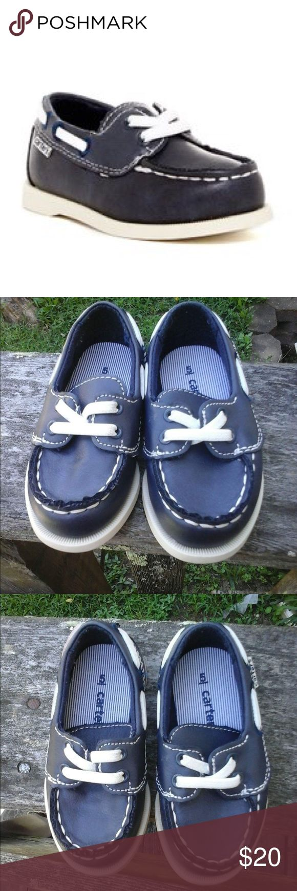 🎉🎉🎉🐯🦁🐻🐰🦊Carters boat Casual shoes for boys Use excellent condition carters boat shoes in navy blue size 5 I have two available let me know if you would want both I give you a price worn only twice as you could see in the pics Carter's Shoes Baby & Walker