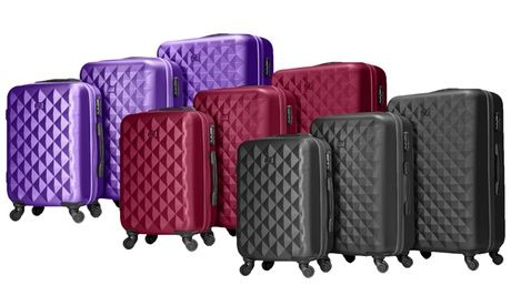 #Set di 3 valigie in abs disponibile in 4  ad Euro 109.98 in #Groupon #Bags
