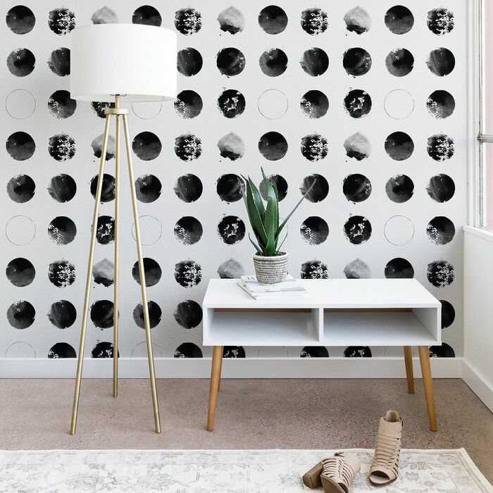 Florent Bodart Twelve Moons Peel And Stick Wallpaper Panel Allmodern Wallpaper Panels Peel And Stick Wallpaper Contemporary Wallpaper