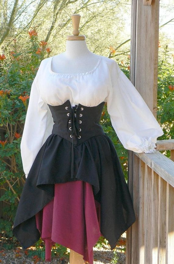 Pirate Dress Renaissance Outfit Waist Cincher by ItsNotPajamas, $158.00