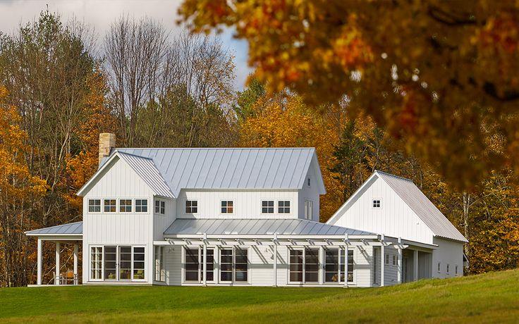 225 best exterior images on pinterest architecture for Vermont farmhouse plans