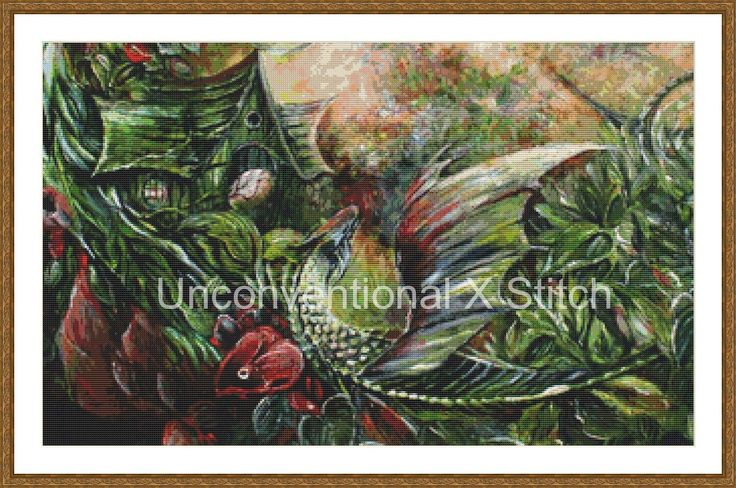 Dragon cross stitch pattern - modern counted cross stitch - The Hatchling Extract - Licensed Angela AK Westerman by UnconventionalX on Etsy